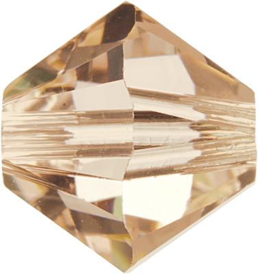 Swarovski Crystal 4mm Bicone Bead 5328 - Silk - Light Peachy Pink - Transparent Finish