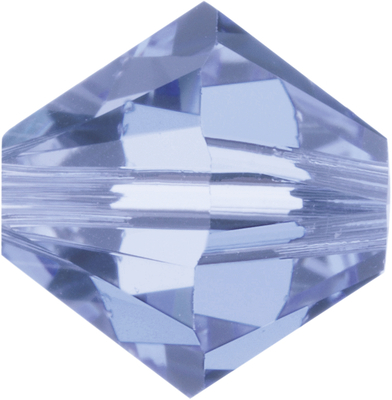 Swarovski Crystal 4mm Bicone Bead 5328 - Light Sapphire - Pale Blue - Transparent Finish