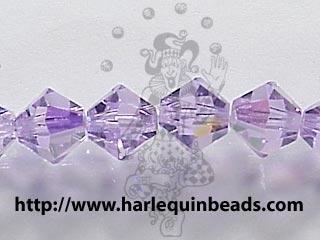 Swarovski Crystal 4mm Bicone Bead 5328 - Violet AB - Purple - Transparent Iridescent Finish