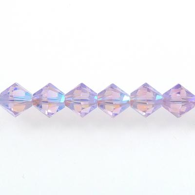 Swarovski Crystal 4mm Bicone Bead 5328 - Violet AB 2X - Purple - Transparent Double Iridescent Finish