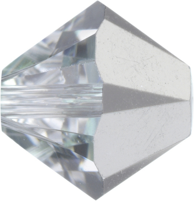 Swarovski Crystal 5mm Bicone Bead 5328 - Comet Argent Light - Silver - Transparent with Half Coat Finish