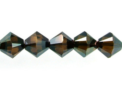 Swarovski Crystal 5mm Bicone Bead 5328 - Crystal Bronze Shade 2X - Full Coat Finish