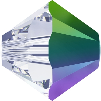 Swarovski 5mm Crystal Scarabaeus Green Transparent Bicone 5328 Beads with Finish