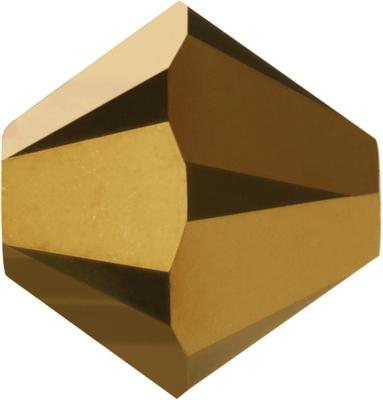 Swarovski Crystal 5mm Bicone Bead 5328 - Crystal Dorado 2X - Dark Gold - Full Coat Finish