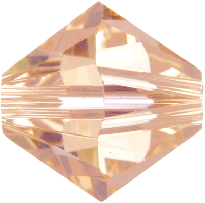 Swarovski Crystal 5mm Bicone Bead 5328 - Light Peach - Transparent Finish
