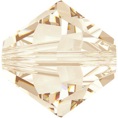 Swarovski Crystal 5mm Bicone Bead 5328 - Light Silk - Transparent Finish