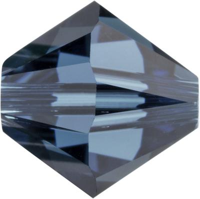 Swarovski Crystal 5mm Bicone Bead 5328 - Montana - Greyish Blue - Transparent Finish