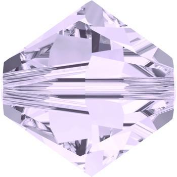 Swarovski Crystal 5mm Smoky Mauve Bicone Bead 5328 withTransparent Finish