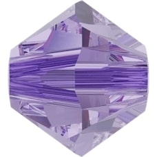 Swarovski Crystal Beads 6mm bicone 5328 alexandrite (color changing) transparent | bicone 5328