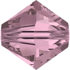 Swarovski Crystal 6mm Bicone Bead 5328 - Crystal Antique Pink - Transparent with Finish