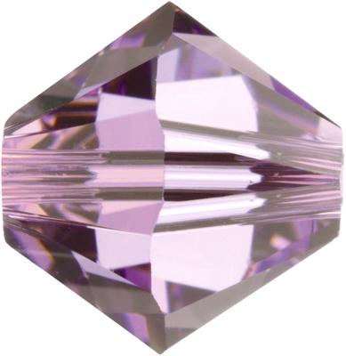 Swarovski Crystal 6mm Bicone Bead 5328 - Light Amethyst - Light Purple - Transparent Finish