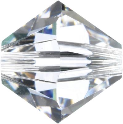 Swarovski Crystal 6mm Bicone Bead 5328 - Crystal - Clear - Transparent Finish