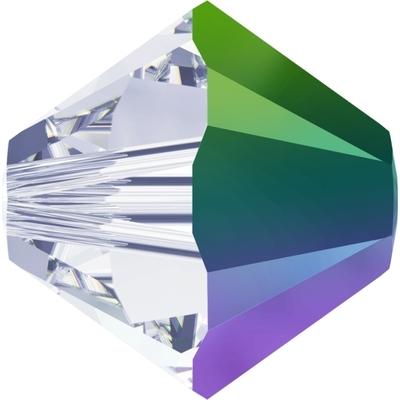 Swarovski 6mm Crystal Scarabaeus Green Transparent Bicone 5328 Beads with Finish