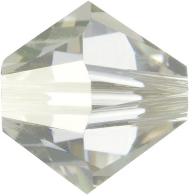 Swarovski Crystal 6mm Bicone Bead 5328 - Crystal Silver Shade - Transparent with Finish