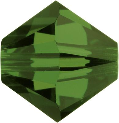 Swarovski Crystal 6mm Bicone Bead 5328 - Fern Green - Transparent Finish