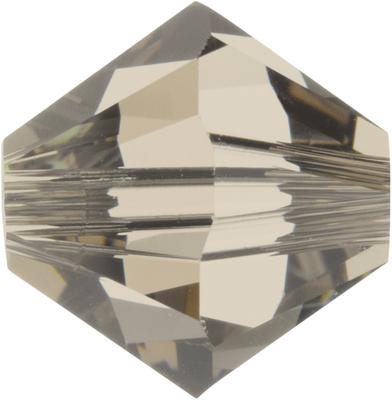 Swarovski Crystal 6mm Bicone Bead 5328 - Greige - Grey - Transparent Finish