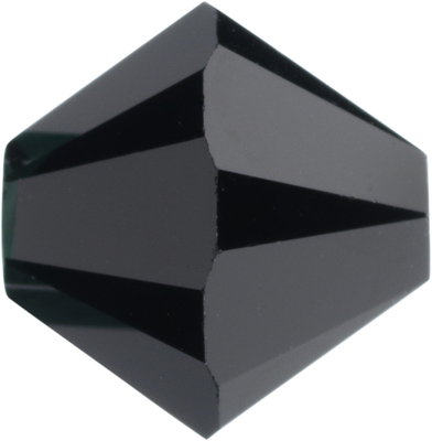 Swarovski Crystal 6mm Bicone Bead 5328 - Jet - Black - Opaque Finish