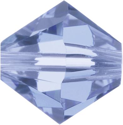 Swarovski Crystal 6mm Bicone Bead 5328 - Light Sapphire - Pale Blue - Transparent Finish