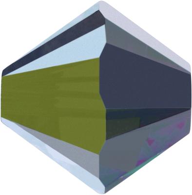Swarovski Crystal 6mm Bicone Bead 5328 - Crystal Vitrail Medium - Transparent with Half Coat Finish