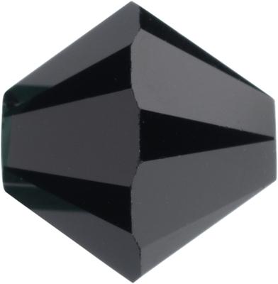Swarovski Crystal 8mm Jet Black Bicone Bead 5328 - Opaque