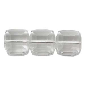 Swarovski Crystal 4mm Cube Bead 5601 - Crystal - Clear - Transparent Finish