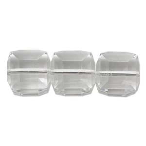 Swarovski Crystal 6mm Cube Bead 5601 - Crystal - Clear - Transparent Finish
