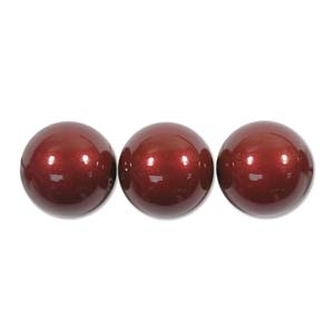 Swarovski Crystal 10mm Round Pearl Bead 5810 - Bordeaux - Pearlescent Finish | Faux Pearls