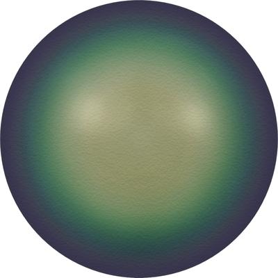 Swarovski 10mm Scarabaeus Green Round Pearl Bead 5810   Faux Glass Pearls