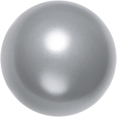 Swarovski Crystal 12mm Round Pearl Bead 5810 - Grey - Pearlescent Finish | Faux Pearls