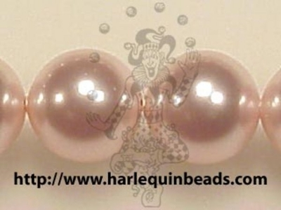 Swarovski Crystal 12mm Round Pearl Bead 5810 - Rosaline - Pale Pink - Pearlescent Finish | Faux Pearls