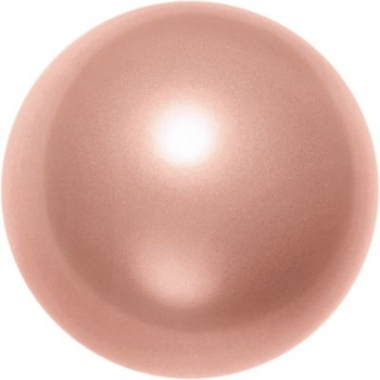 Swarovski Crystal 12mm Round Pearl Bead 5810 - Rose Peach - Pearlescent Finish | Faux Pearls