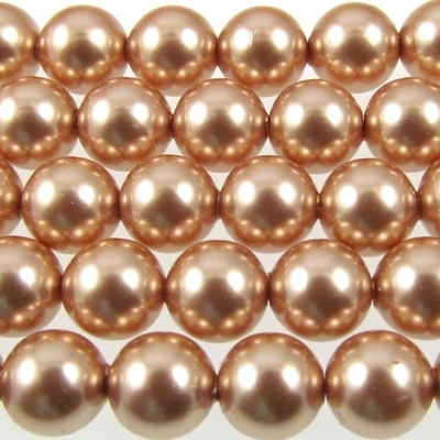 Swarovski Crystal 3mm Round Pearl 5810 - Rose Gold - Pearlescent Finish | Faux Glass Pearls