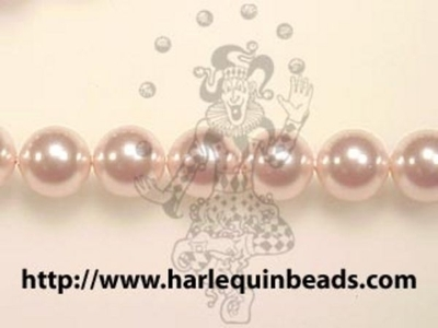 Swarovski Crystal 3mm Round Pearl Bead 5810 - Rosaline - Pale Pink - Pearlescent Finish | Faux Glass Pearls