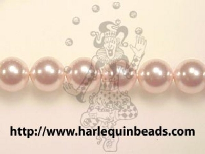 Swarovski Crystal 4mm Round Pearl Bead 5810 - Rosaline - Pale Pink - Pearlescent Finish | Faux Glass Pearls
