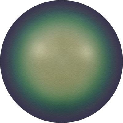Swarovski 4mm Scarabaeus Green Round Pearl Bead 5810 | Faux Glass Pearls