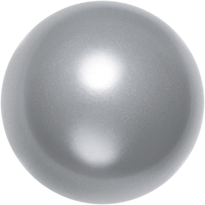 Swarovski Crystal 6mm Round Pearl Bead 5810 - Grey - Pearlescent Finish | Faux Glass Pearls
