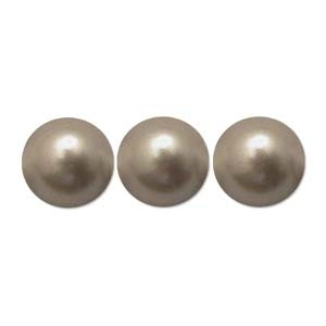 Swarovski Crystal 6mm Round Pearl Bead 5810 - Powder Almond - Pearlescent Finish | Faux Glass Pearls