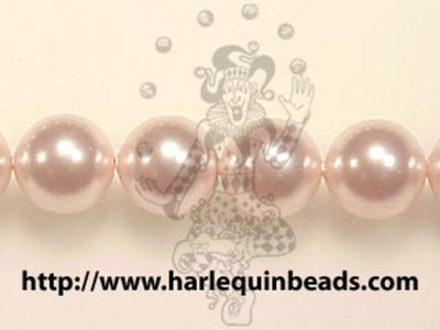 Swarovski Crystal 6mm Round Pearl Bead 5810 - Rosaline - Pale Pink - Pearlescent Finish | Faux Glass Pearls