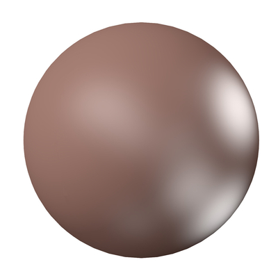 Swarovski Pearl Beads 6mm round pearl (5810) velvet brown pearlescent | Swarovski Pearl Beads