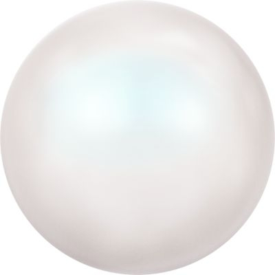 Swarovski 8mm Crystal Pearlescent White Round Pearl Bead 5810 - Pearlescent Finish | Faux Glass Pearls