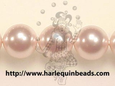 Swarovski Crystal 8mm Round Pearl Bead 5810 - Rosaline - Pale Pink - Pearlescent Finish