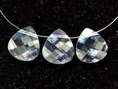Swarovski Crystal 11x10mm Flat Briolette Pendant 6012 - Crystal - Clear - Transparent Finish