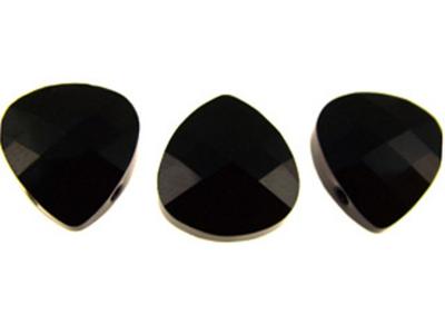 Swarovski Crystal 11x10mm Flat Briolette Pendant 6012 - Jet - Black - Opaque Finish