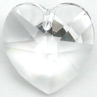 Swarovski Crystal 10mm Heart Pendant 6228 - Clear - Transparent Finish