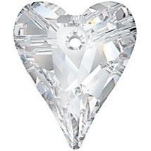 Swarovski Crystal 17mm Wild Heart Pendant 6240 - Crystal - Clear - Transparent Finish