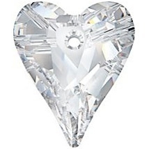 Swarovski Crystal 27mm Wild Heart Pendant 6240 - Crystal - Clear - Transparent Finish