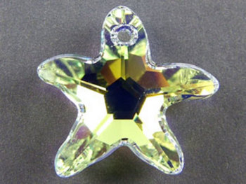Swarovski Crystal 16mm Starfish Pendant 6721 - Crystal AB - Clear - Transparent Iridescent Finish