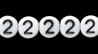 Czech Pressed Glass 6mm Number 2 Bead - White with Black - Opaque Finish