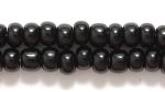Czech Pony Glass Seed Bead Size 6 - Black - Opaque Finish
