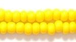 Czech Pony Glass Seed Bead Size 6 - Dark Yellow - Opaque Finish
